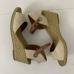 Lucky Brand Open Toe Wedge Sandals 9.5